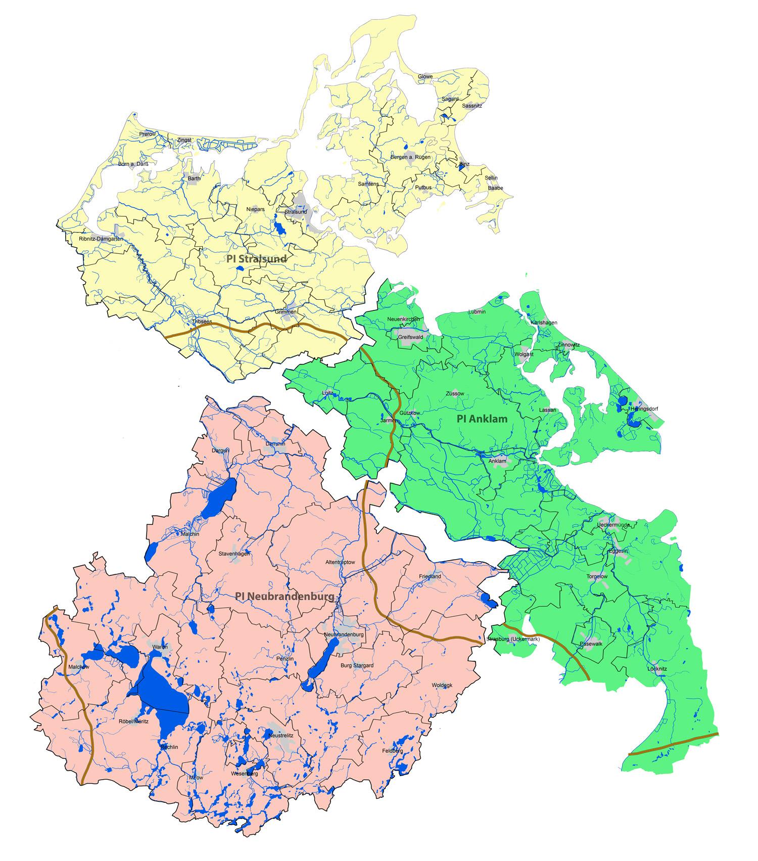 Mecklenburgische Seenplatte Karte Pdf.Polizeiprasidium Neubrandenburg